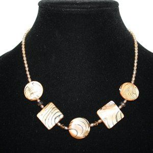 Beautiful sterling silver and shell necklace adjus